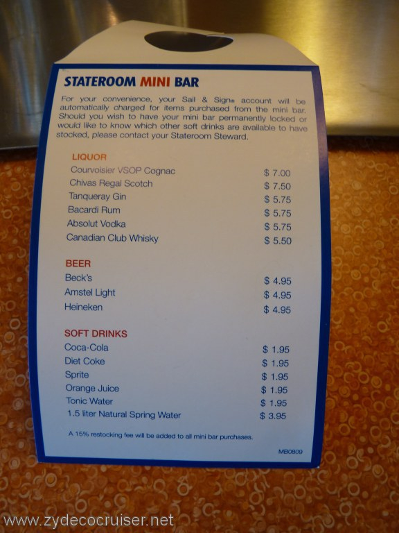 Carnival funville online community cruise blogs forums for Balcony bar menu