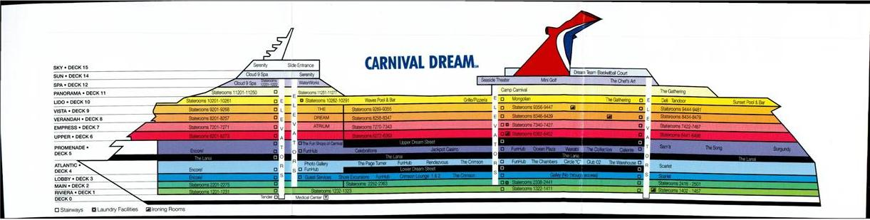 Carnival Dream Ship Deck Plans Carnival Dream Deck Plan